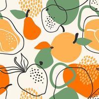 padrão sem emenda com maçãs e peras