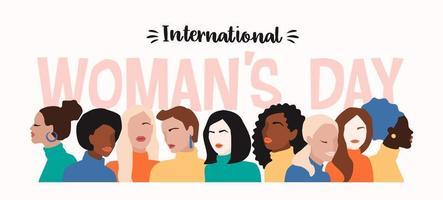 dia internacional da mulher desgin vetor