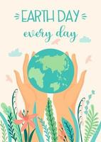 pôster do dia da terra para salvar a natureza