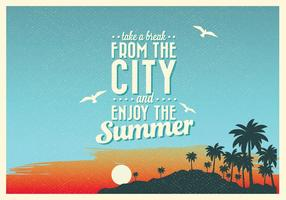 Aproveite o vetor de verão