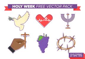 Pacote de vetores grátis da semana santa