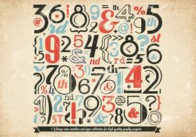 Vetor de coleção de números de vintage