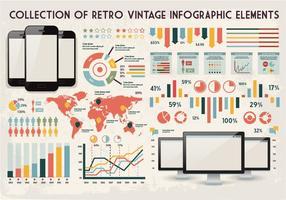 Gráficos de coleção retro vetor