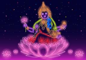 Deusa indiana Lakshmi vetor
