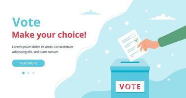 conceito de página da web de votação vetor