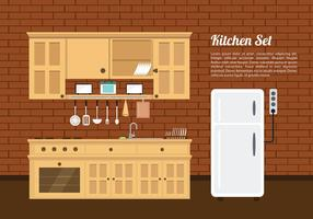 Cozinha set vintage free vector