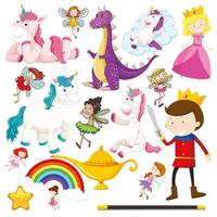conjunto de personagens de contos de fadas vetor