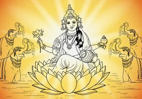 Deusa Lakshmi vetor