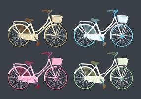 Jogo colorido de bicicletas coloridas vetor