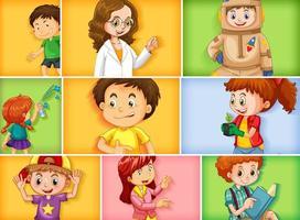 conjunto de diferentes personagens infantis