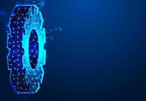engrenagem tecnologia digital e engenharia vetor