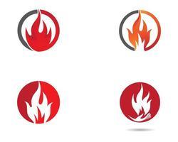 conjunto de símbolos de fogo vetor
