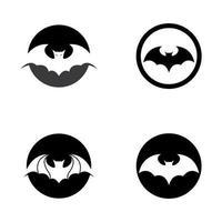 conjunto de design de logotipo de morcego vetor