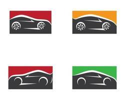 conjunto de símbolos de carro vetor
