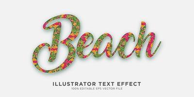 efeito de texto efeito de estilo ilustrador vetor