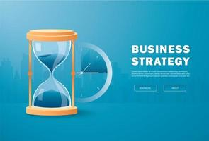 ampulheta como conceito de passagem do tempo para prazo de negócios
