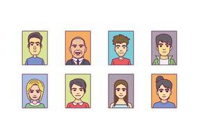 Vector de retrato de Headshot gratuito