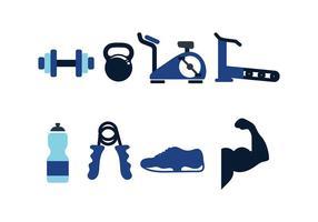 Vector de Pacote de Ícones de Fitness