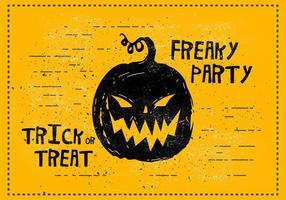 Ilustração vetorial Freaky Halloween vetor