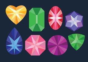 Conjuntos de gemas coloridas vetor