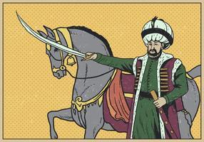 Retrato do sultão vetor