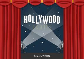 Fundo do vetor de luzes de Hollywood