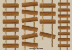 Ícones de vetor de escada de corda