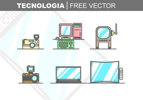 Vetor livre de tecnologia