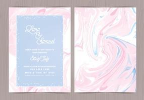 Convite do casamento do efeito do mármore do vetor