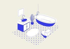 Ilustração vetorial do banheiro vetor