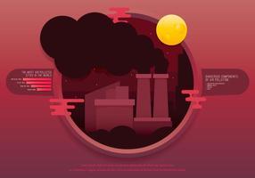 Vetor do aterro e do poluidor do ar