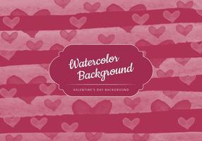 Fundo do Valentim da aguarela do vetor