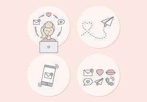 Vector Ilustração do Dia dos Namorados