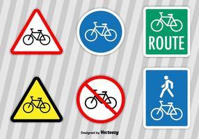 Sinais vetoriais de bicicleta vetor