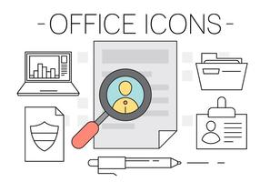 Ícones gratuitos do Office vetor