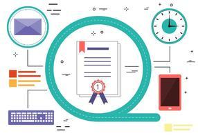 Elementos e ícones vetoriais de design plano gratuito vetor
