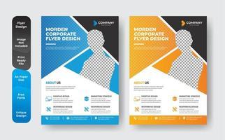 conjunto de modelos corporativos de panfleto de negócios vetor