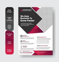 capa de relatório de negócios corporativos vetor