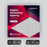 modelo de banner de mídia social de marketing digital moderno