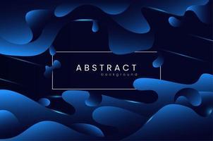 fundo azul gradiente líquido abstrato vetor