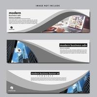 modelo de banner da web definido para negócios vetor