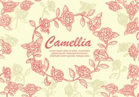 Ilustração da flor da camélia