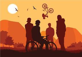 Bike Trail Clube Vector grátis