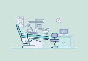 Dentista livre da ilustração do escritório vetor