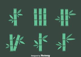 Conjunto de vetores de bambu