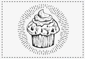 Free Hand fundo desenhado Muffin vetor