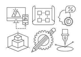 Livre Arquitetura ícones do vetor