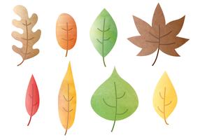 Livre Aquarela das folhas de outono do vetor
