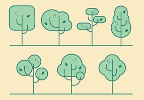 Free Vector minimalista Árvores