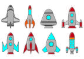 Jogo De Starship Icons vetor